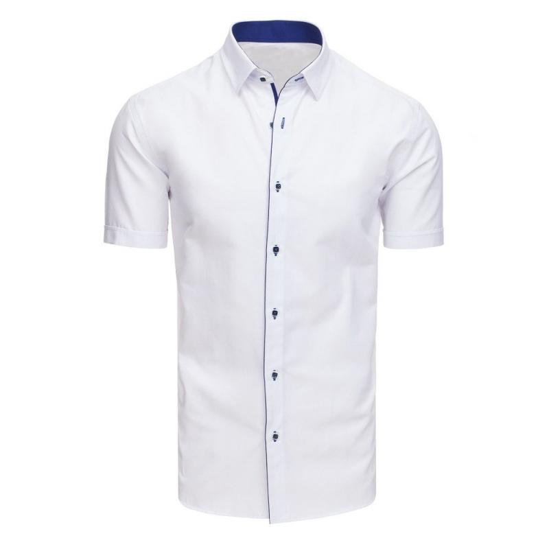 1be18aab8a26 Elegantná pánska košeľa s krátkym rukávom biela