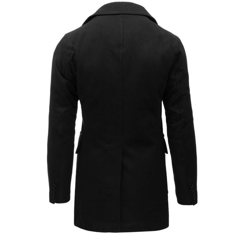 Čierny pánsky zimný kabát  d3c5514bd4b