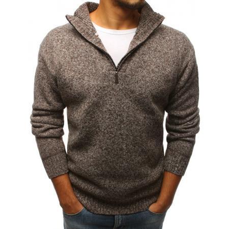 Pánsky sveter hnedý STYLE