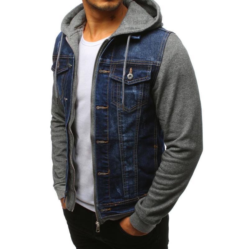 Pánska džínsová bunda modrá  70e12197618