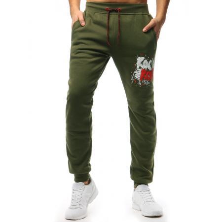 Pánske STYLE nohavice tepláky zelené