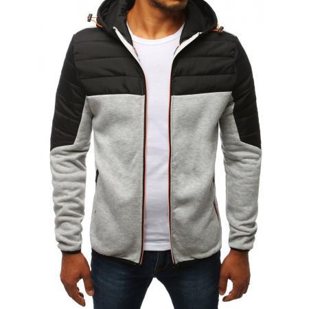 Pánska bunda prechodová jesenná / jarná športové šedá