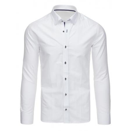 Biela panská košele kockovaná s dlhým rukávom