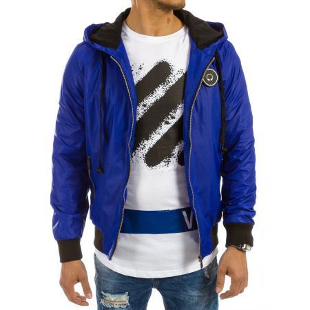 Pánska bunda prechodová svetle modrá