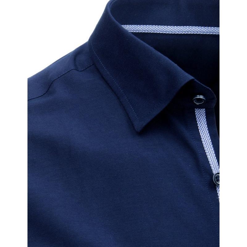 b9892920022b Pánska ELEGANT košeľa tmavo modrá