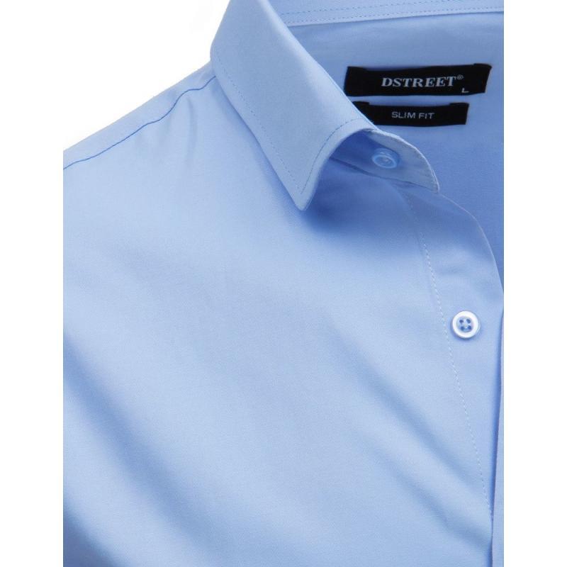 66a2ce31e510 Pánska elegantná košeľa s dlhým rukávom modrá