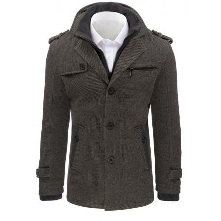 Pánsky kabát štýlový šedý