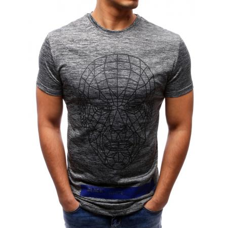 Pánská tričko s potlačou antracitová