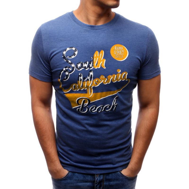 1541a2870d04 Pánske tričko s potlačou (tričko) tmavo modré