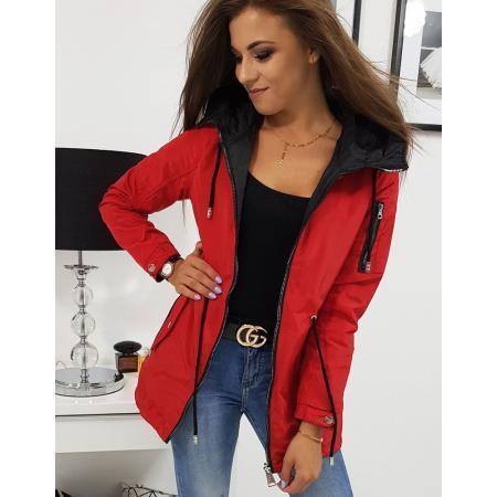 Obojstranná bunda dámska parka DENISE červená