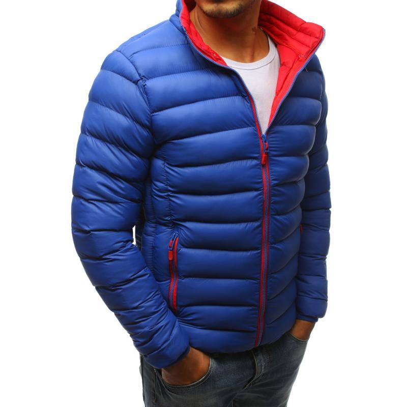 Pánska zimná prešívaná bunda modrá  847ea5f52fb