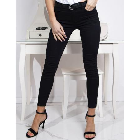 Nohavice dámske jeansové čierne