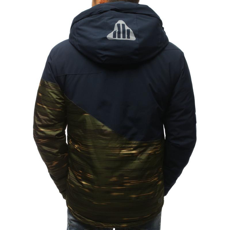 694ae3a23 Pánska zimná bunda s kapucňou tmavo modrá | manSTYLE.sk