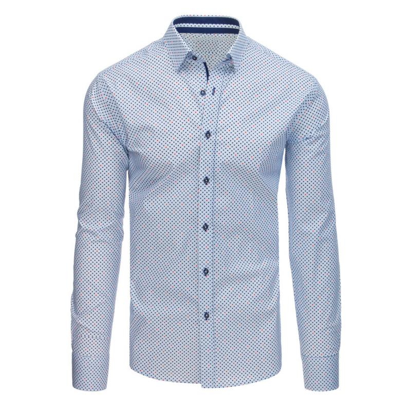 2f0231fc6cae Pánska STYLE košeľa elegantná sa vzormi biela