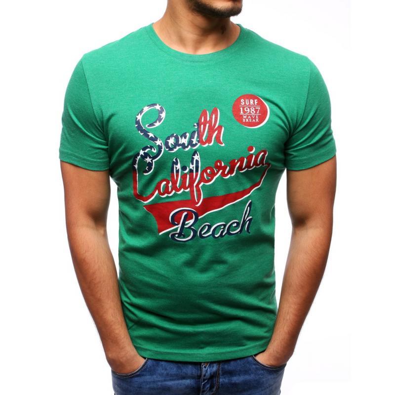 0d3ce7077570 Pánske tričko s potlačou (tričko) zelené