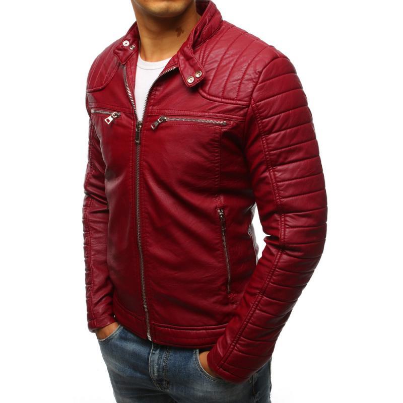 Pánska STYLE bunda koženka červená  00fba73b6e8