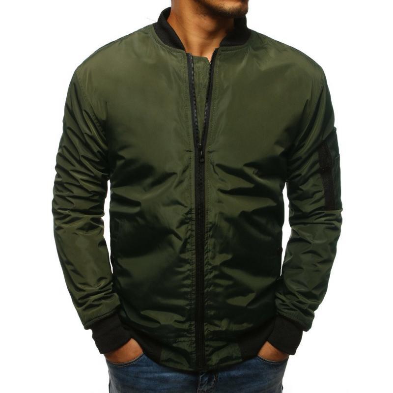 c05bad7ea179 Pánska NEWSTYLE bunda bomber jacket zelená