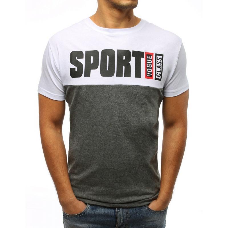 611da2b01196 Pánske tričko STYLE s potlačou bielej
