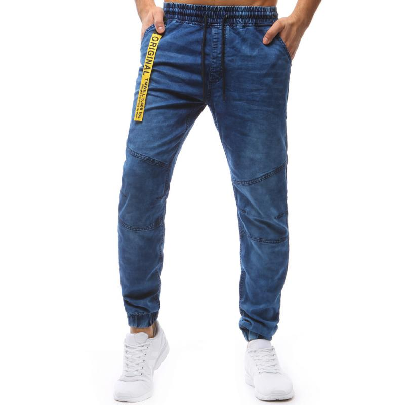 c78e93081435 Pánske jogger nohavice denim look svetlo modré