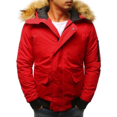 Pánska zimná červená bunda