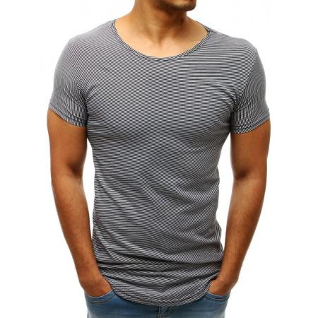 Pánske tričko MAN pruhované bielo-čierne