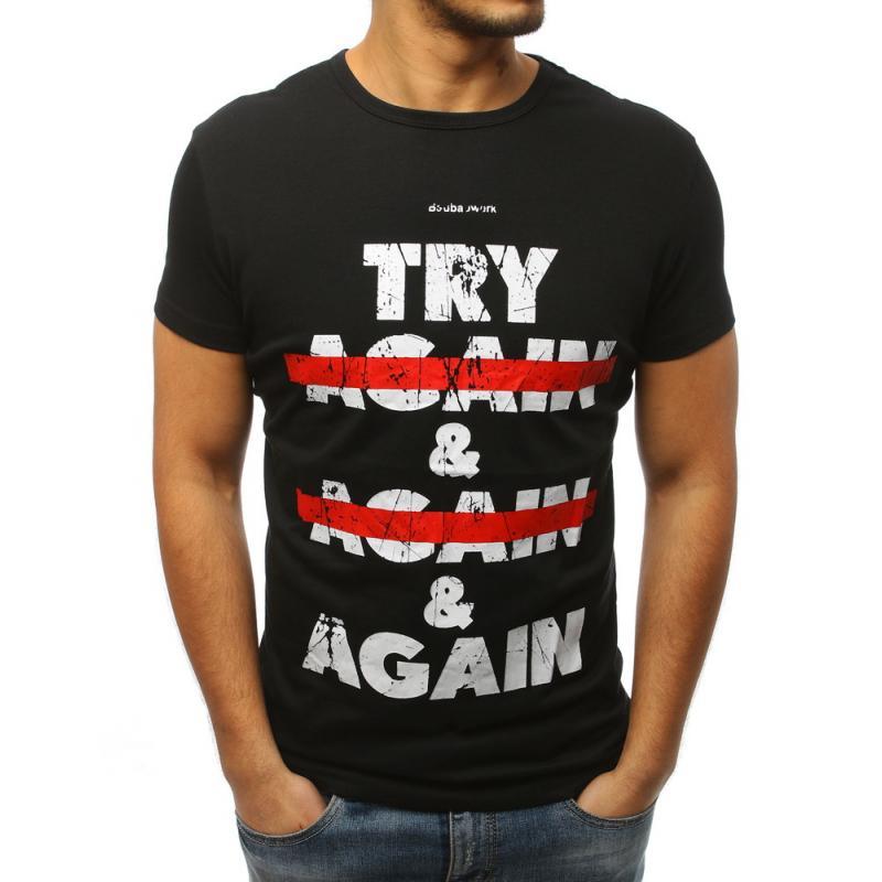5fcf76f0bb55 Pánske ELEGANT tričko s potlačou čiernej