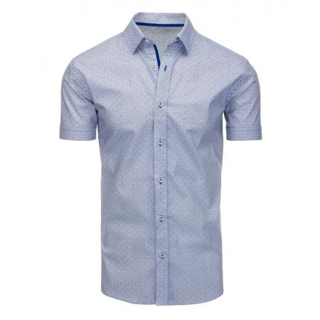 b94bd47f9040 Panská košele elegantný so vzorom s krátkym rukávom biela