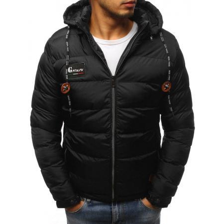 Pánska bunda zimná WINTER prešívaná čierna