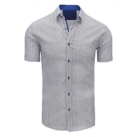 0c2f5c753b81 Biela pánska modernej košeľa vzorovaná