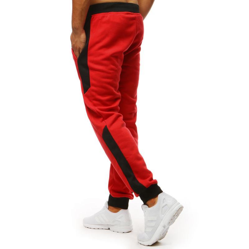 Pánske nohavice STYLE tepláky červené  39020c43ba