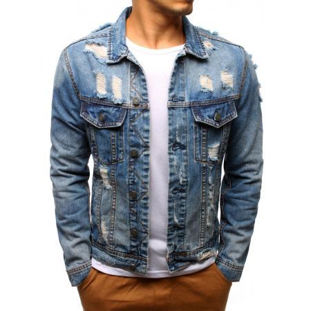 Pánska bunda džínsová svetlo modrá