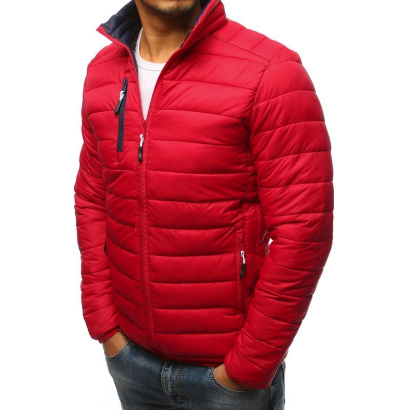 Pánska červená prešívaná bunda  1c835b5b9d3