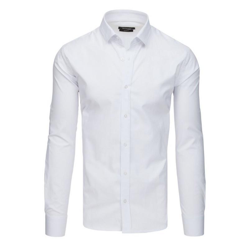 d92678640b36 Pánska elegantná košeľa s dlhým rukávom biela