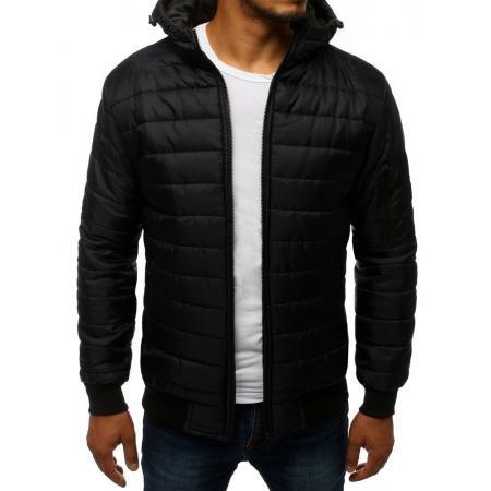 Pánska SPRING bunda prešívaná bomber jacket čierna