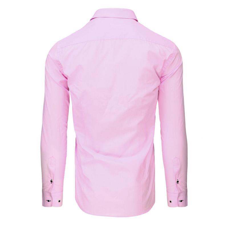 ec1f4de82c43 Ružová pánska košeľa s dlhým rukávom