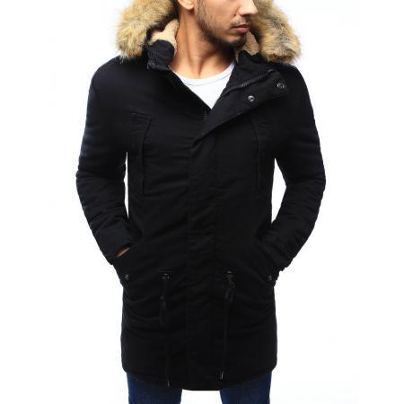 Pánska bunda parka zimné čierna