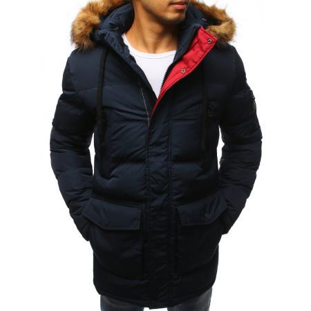 Zimná pánska bunda prešívaná granátová