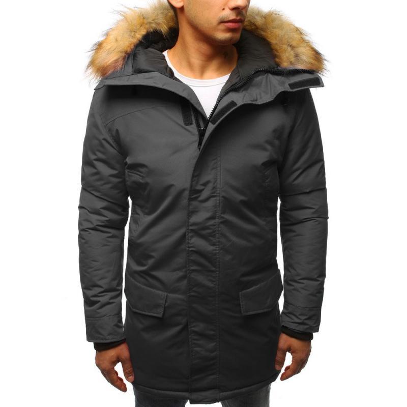 Pánska zimná bunda grafitowa  cbbec881f6c