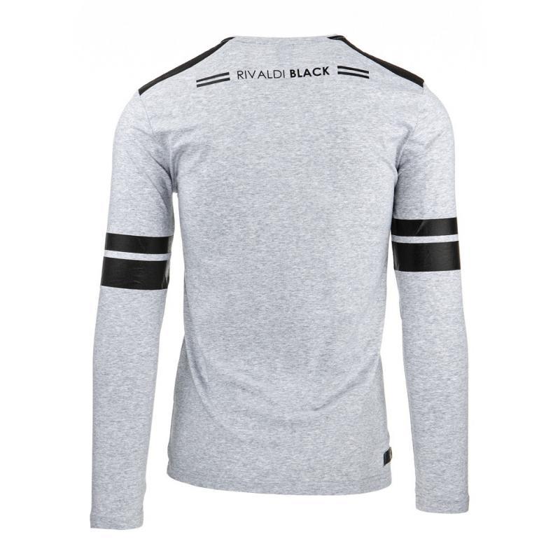 de8a0c61b8e4 Pánske tričko s potlačou (Longsleeve) sivé