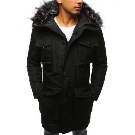 Pánska zimná parka bunda čierna
