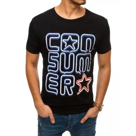 Pánske tričko STAR čierne rx4444