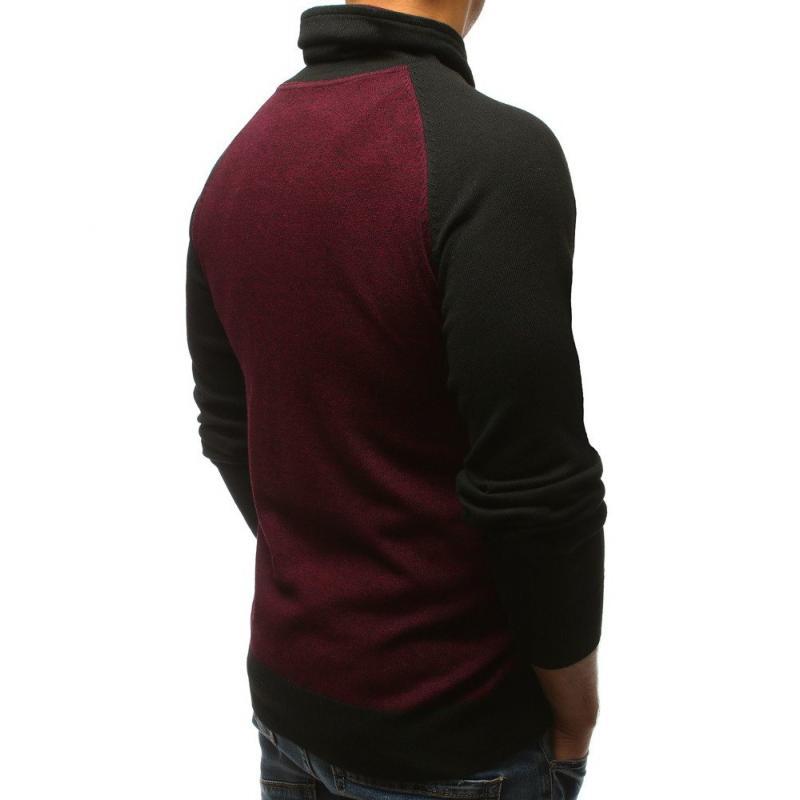 0ca88f052c70 Pánsky sveter bordó STYLE
