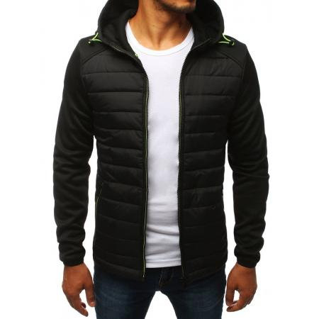 Pánska bunda prechodová jesenná / jarná prešívaná čierna