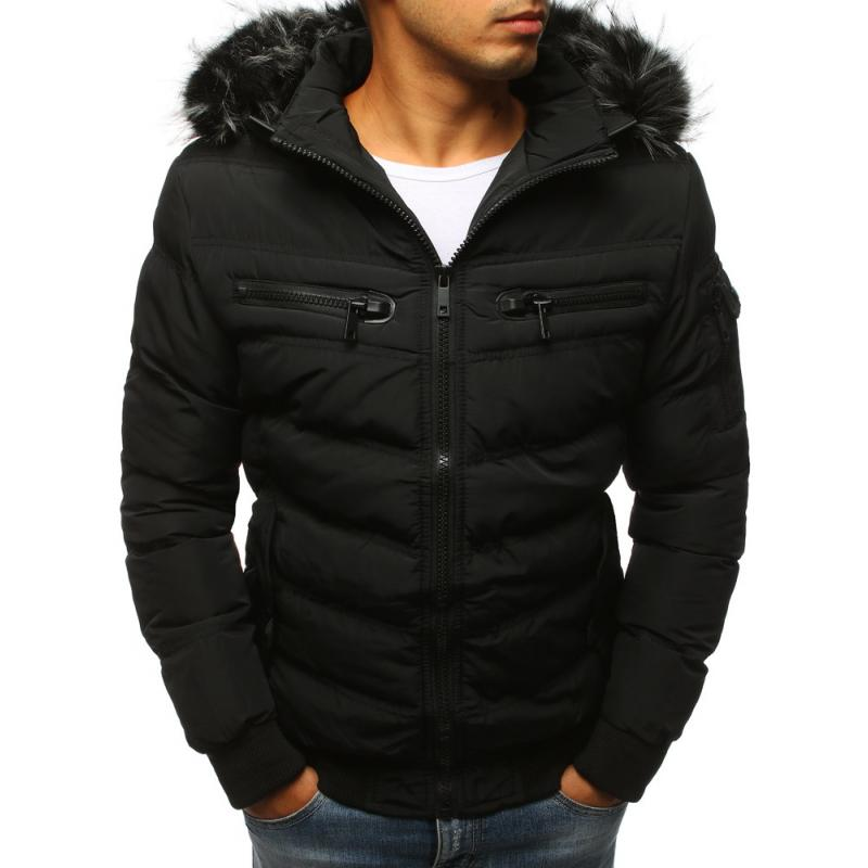 Pánska zimná bunda prešívaná čierna  139660bbd2c