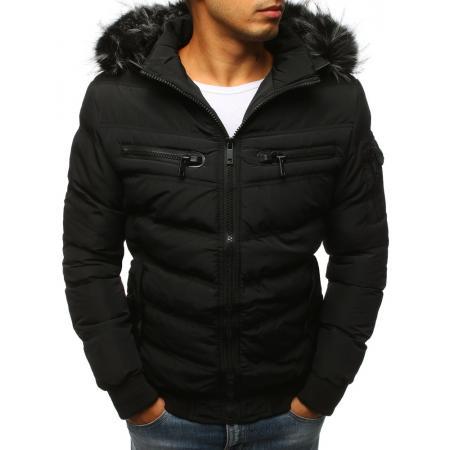 Pánska zimná bunda prešívaná čierna 64be4e6e277