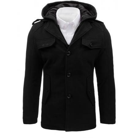 Pánsky štýlový čierny kabát