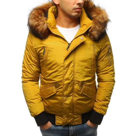 Pánska zimná bunda žltá