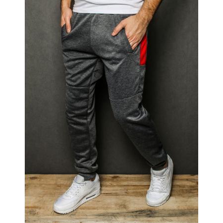 Pánske nohavice tepláky tmavo šedé UX2310
