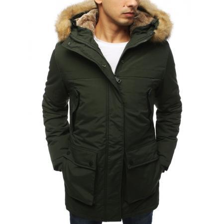 Pánska bunda parka zimná khaki TX3054