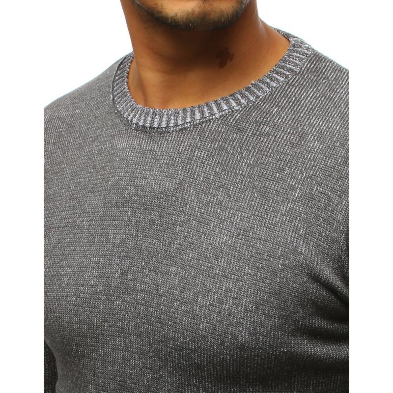 4f547a15be4d Pánsky antracitový sveter